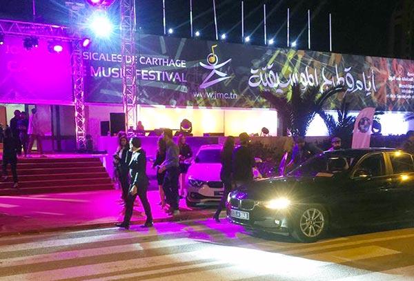 BMW, le plaisir de conduire les VIP des JMC lors de la cérémonie de Clôture