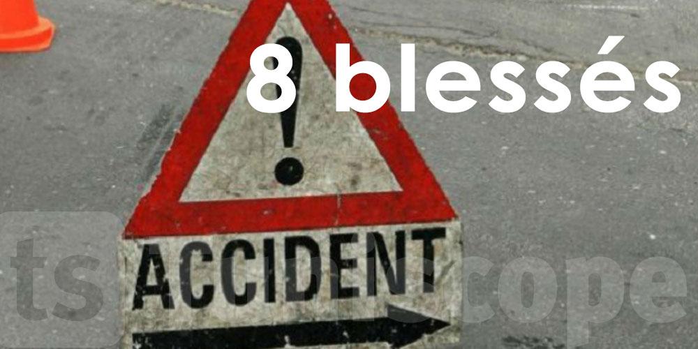 8 blessés dans un accident de la route à Jendouba