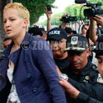 Amina Femen fait son apparition à l'Avenue