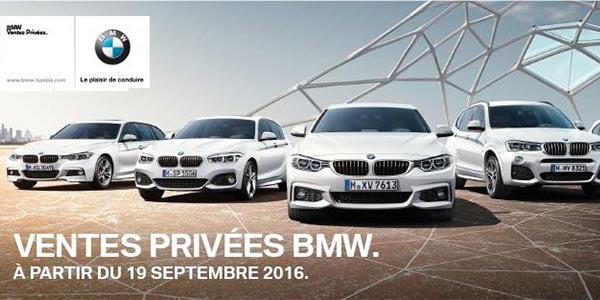 Les ventes privées des BMW chez Ben Jemâa Motors à partir du 19 septembre 2016