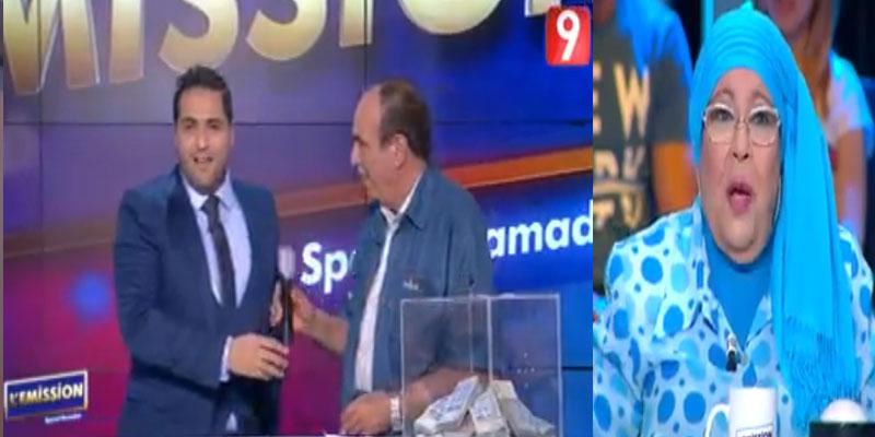 بالفيديو: العربي بولبيار يفاجئ زوجته عزيزة في ' L'émission'
