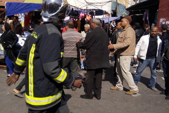 بالصور: حريق في مستودع لألعاب نارية بسوق بومنديل