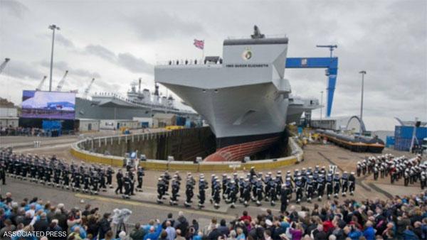 أضخم سفينة حربية بريطانية تتأهب للانطلاق