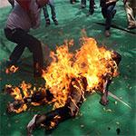 Une femme brulé vive par son mari à Nefta