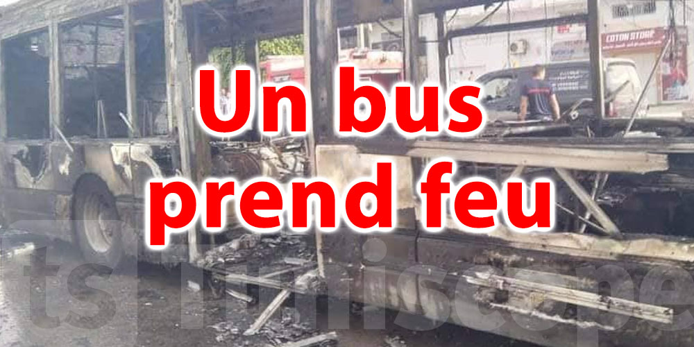 En vidéo: Un bus prend feu à Sfax
