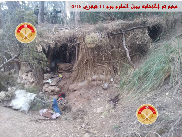 بالصور : الجيش يكتشف مخيما جديدا لمجموعة إرهابية بجبل السلوم