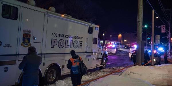 Attentat du Québec, des caméras de surveillance ont filmé la scène