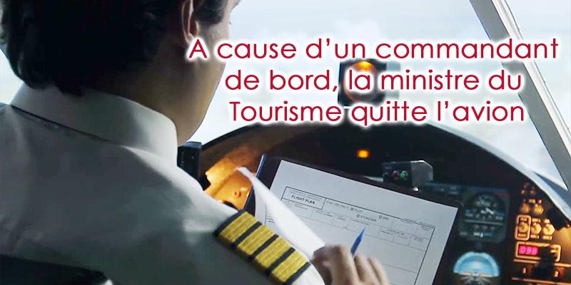 La ministre du Tourisme obligée de débarquer du vol TU 226 — Tunisie