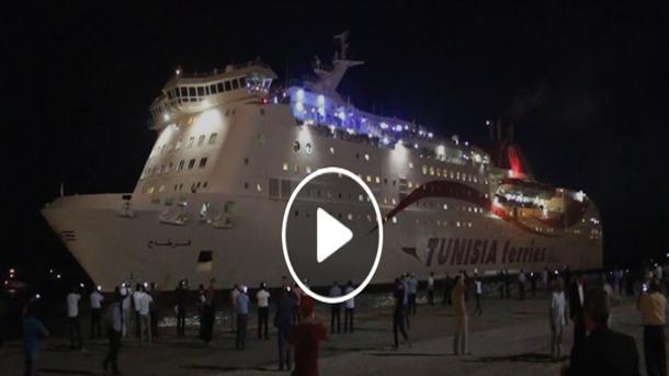 بالفيديو: ميناء جرجيس يستقبل أول رحلة قادمة من مرسيليا على متن الباخرة قرطاج
