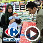 En vidéo : Carrefour offre 1000 coffrets lors de la 10ème édition 'coffret de naissance'