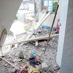 انهيار طابقي عمارة بشارع قرطاج بتونس العاصمة