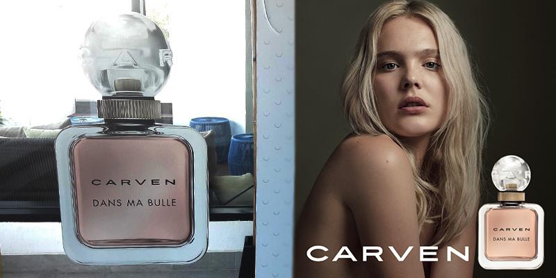 Lancement du nouveau parfum CARVEN DANS MA BULLE, un parfum frais, naturel, sensuel et irrésistible