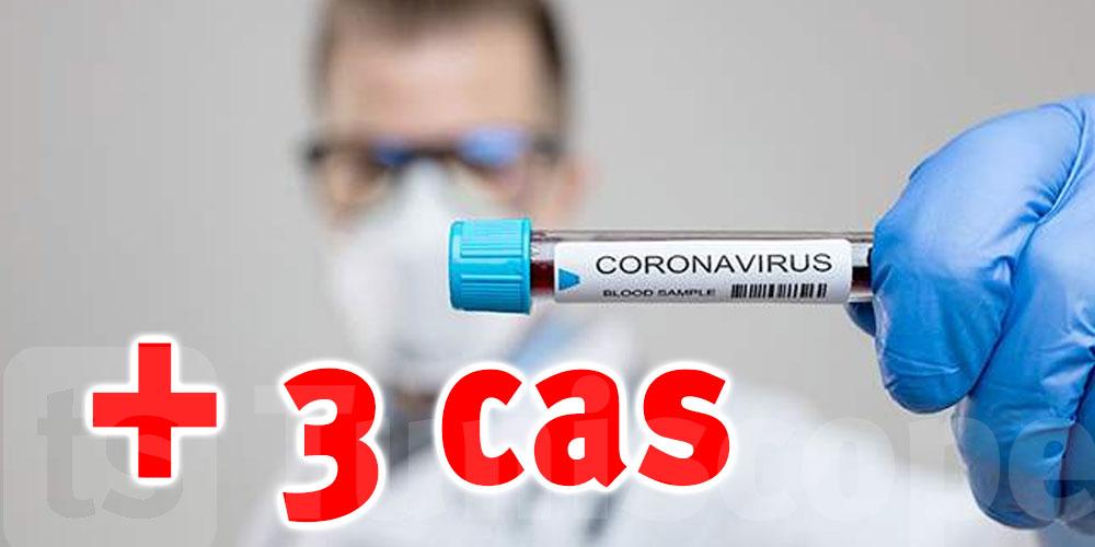 3 nouveaux cas de coronavirus en Tunisie