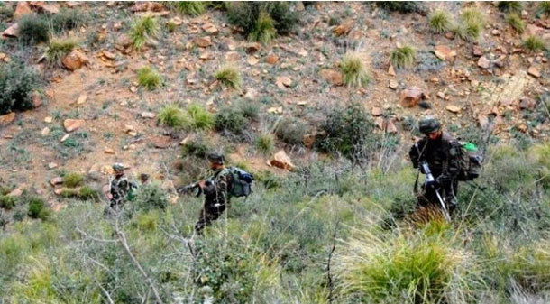 Destruction de 4 casemates pour terroristes à Batna en Algérie