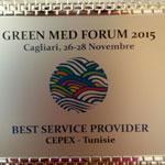 Le Cepex reçoit le prix du « Meilleur fournisseur de service ''BEST SERVICE PROVIDER''   à Cagliari en Sardaigne-Italie