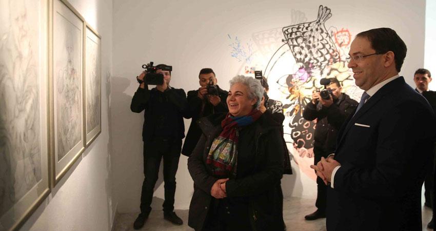 رئيس الحكومة يختتم معرض تكريم الفنان التشكيلي التونسي الراحل عبد العزيز القرجي