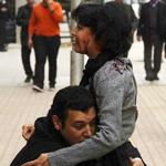 Sit-in de protestation contre l'assassinat de Chaima Sabbagh devant l'ambassade d'Egypte