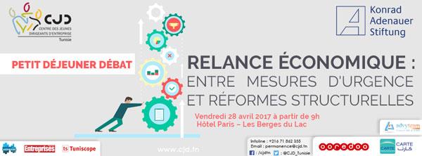 Relance économique entre mesures d'urgence et réformes structurelles thème du  petit déjeuner débat du CJD