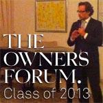 Inauguration de The Owners Forum class 2013 par son excellence Jens Plötner