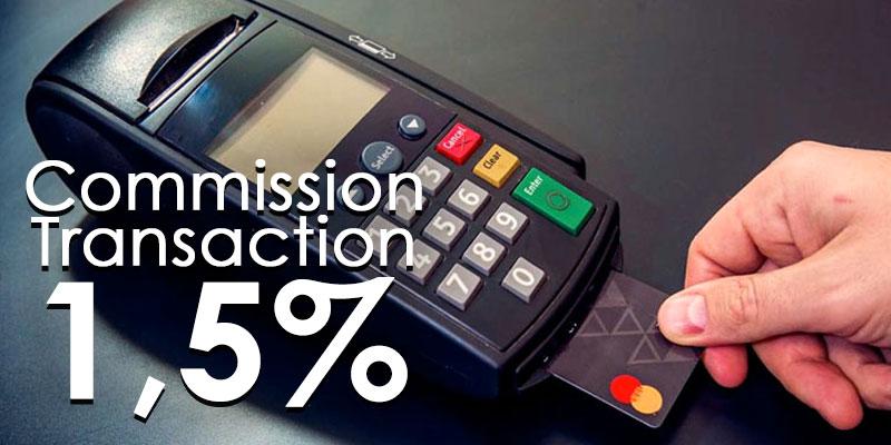 La commission bancaire pour la transaction par TPE passe de 3% à 1,5%