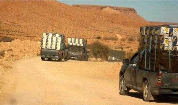 المنطقة الحدودية العازلة : مهربون يفرّون ويتركون 180 ألف دينار