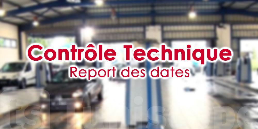 Report des dates de contrôle technique des véhicules