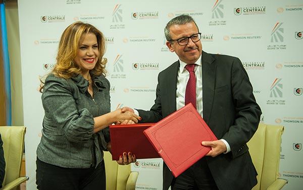 En photos : Convention de partenariat entre la Bourse de Tunis et l'Université Centrale