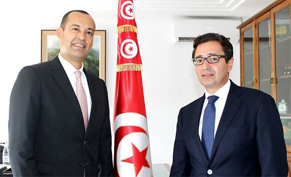 Passation des pouvoirs entre Yassine Brahim et Fadhel Abdelkafi