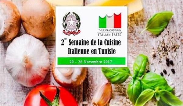 La 2ème édition de la semaine de la cuisine italienne en Tunisie du 20 au 26 novembre