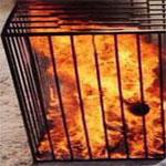داعش يحرق 4 شباب أحياء لرفضهم تدمير متحف الموصل