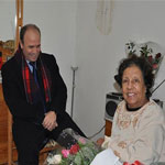 En-Photos : Mehdi Mabrouk rend visite à Dalenda Abdou