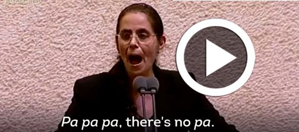 Une députée israélienne : il n'y a pas de  peuple palestinien car il n'y a pas de 'P' en Arabe...