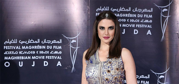 En photos : Dorra Zarrouk fait sensation au Festival Maghrébin du Film