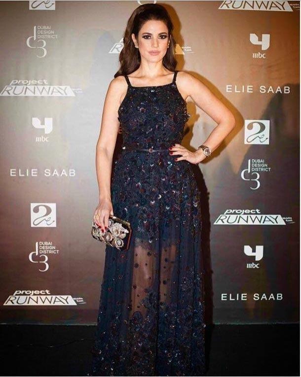 En photos : Dorra Zarrouk dans une robe signée Elie Saab lors de la finale de l'émission Project Runway