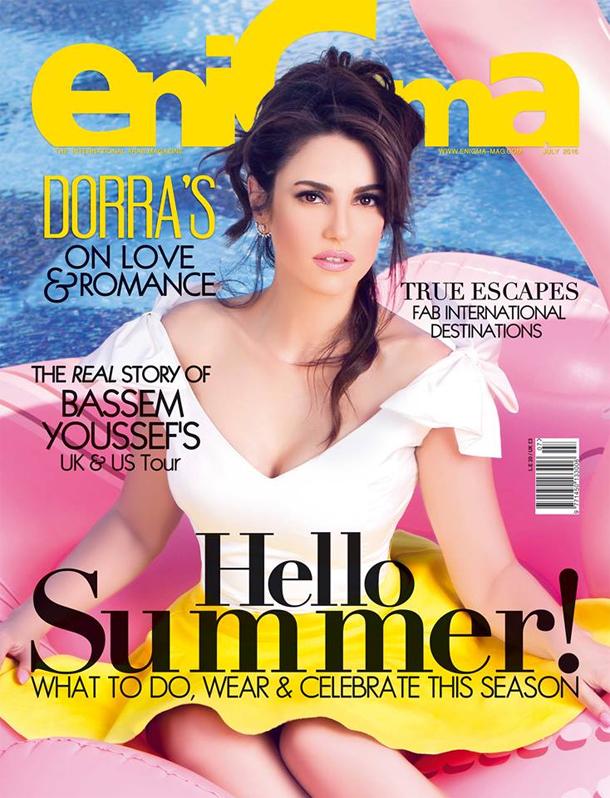 En photos : Dorra Zarrouk fait la couverture du magazine EniGma