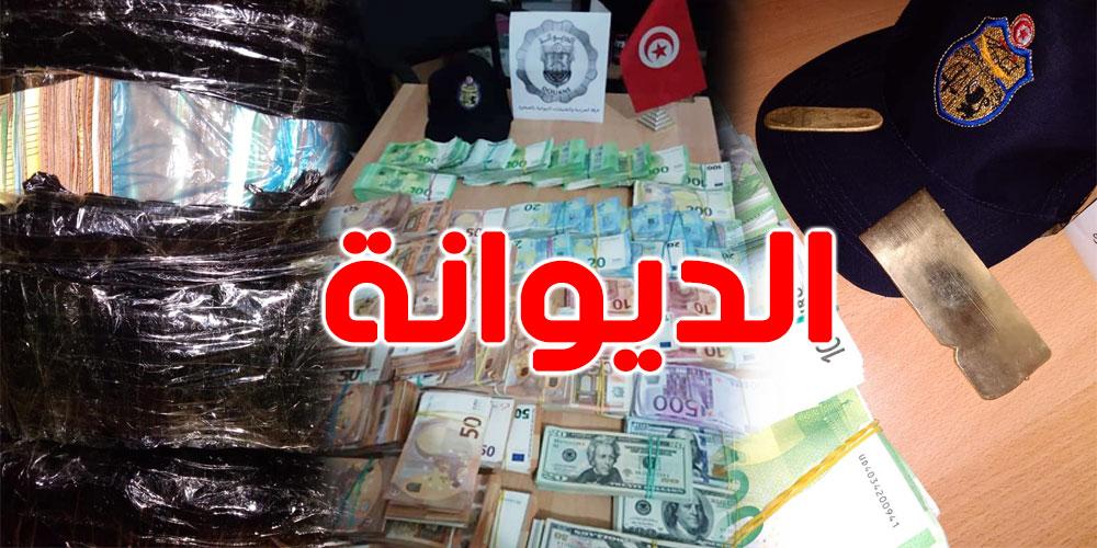 حجز بقيمة 1.4 مليون دينار من العملة الأجنبية وصفيحتين من الذهب