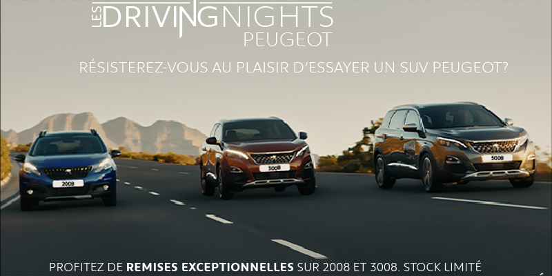 Les DRIVING NIGHTS by PEUGEOT