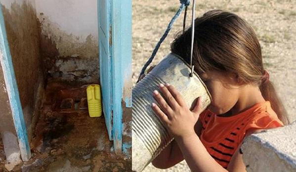 Des centaines d'écoles sans eau potable, les enfants se débrouillent pour boire…