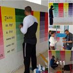 En photos:Un enseignant et ses élèves rénovent leur école, à Sfax