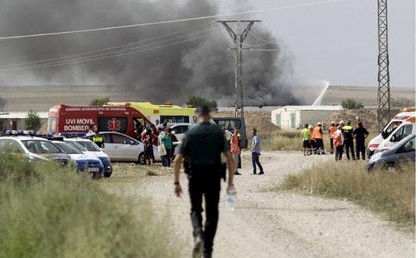 Explosion dans une usine de feux d'artifice, en Espagne : 5 morts