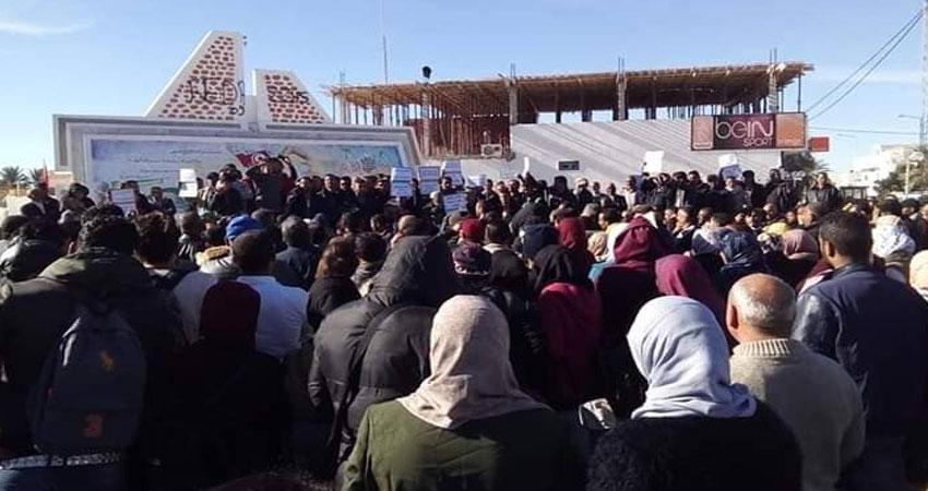 تحركات احتجاجية في الحامة و منزل الحبيب