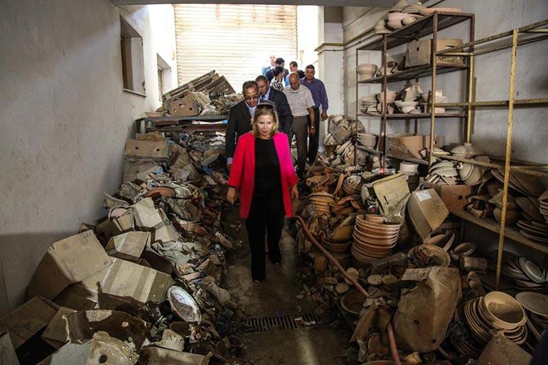 بالصور: وزيرة السياحة في زيارة لعدة فنادق بنابل متضررة من الفيضانات