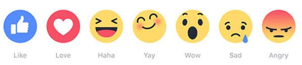 Découvrez les six nouvelles réactions, « emojis », de Facebook, en plus du bouton « j'aime »