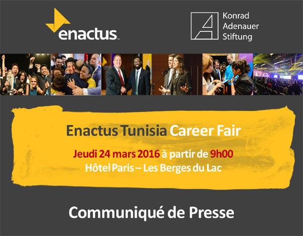 La 2ème édition du  Enactus Tunisia Career Fair pour les étudiants qui ont fait la différence !