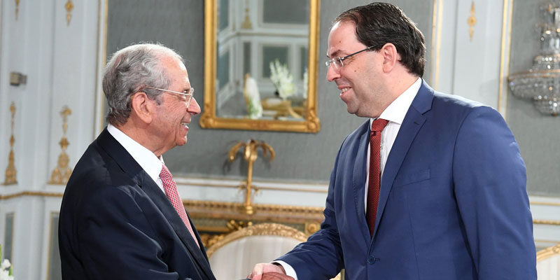 En photo : ce que l'on sait de la rencontre entre Mohamed Ennaceur et Youssef Chahed