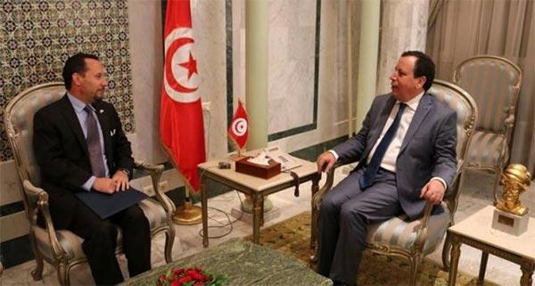 Le ministre des Affaires étrangères s'entretient avec l'ambassadeur des Etats Unis à Tunis