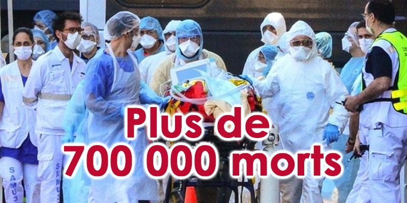 L'épidémie passe le cap des 700 000 morts dans le monde