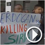En vidéo : Les gardes d'Erdogan agressent des manifestants en Equateur