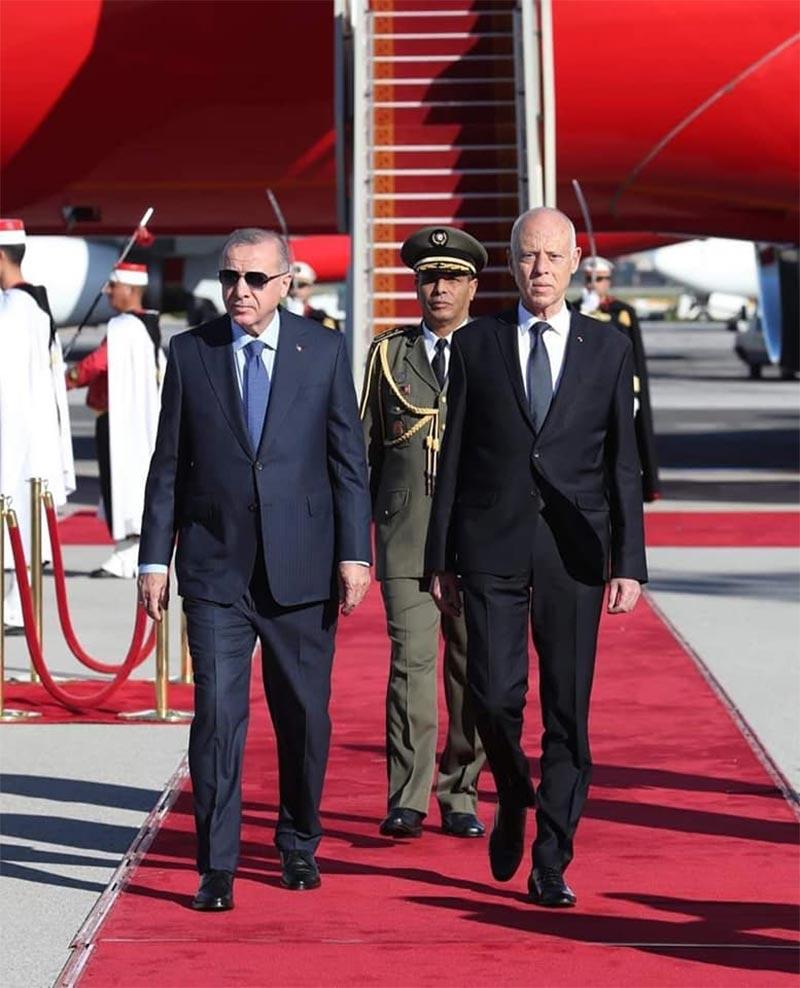 بالصور: قيس سعيد يلتقي أردوغان