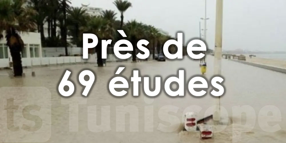 Près de 69 études pour la protection de 22 gouvernorats contre les inondations